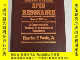 二手書博民逛書店electron罕見spin resonance second