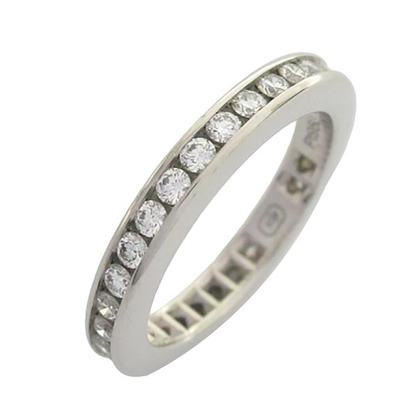 HARRY WINSTON 海瑞·溫斯頓 嵌圓形鑽石鉑金戒指  ROUND CHANNEL SET DIAMOND