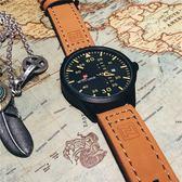 手表時尚潮流軍事風男表多功能防水手表皮帶表大表盤軍表 全店88折特惠