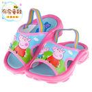 《布布童鞋》粉紅豬小妹粉色佩佩豬附綁帶兒童拖鞋(14~15公分) [ A7M034G ] 粉紅款