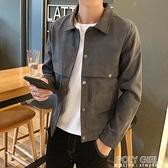 男外套 男士外套韓版流秋季衣服牛仔新款加絨上衣休閒工裝夾克男裝 夏季新品