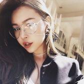 現貨-韓國明星TOP權志龍GD同款飛行眼鏡平光鏡經典復古風透明男女潮人復古81