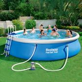 成人家庭加厚充氣游泳池 超大兒童游泳池 家用充氣水池【全館限時88折】TW
