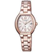 CITIZEN 星辰 HEBE配戴款 xC 光動能電波酒桶型時尚女腕錶ES9362-52W