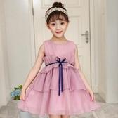 2018新品兒童雪紡公主裙女童裝夏裝韓版中大童洋氣荷葉邊連身裙子【免運】