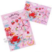 〔小禮堂〕Hello Kitty 日製L 型文件夾組《2 入紅粉》資料夾L 夾檔案夾莓好時光系列4901610 25743