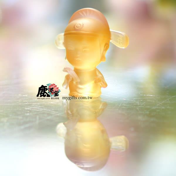 鹿港窯-居家開運水晶琉璃擺飾-Q版好神公仔~氣質達人-文昌帝君