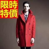 大衣毛呢復古休閒-簡約率性翻領雙排扣男外套1色61x22【巴黎精品】