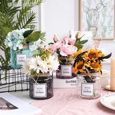 簡約玻璃花瓶桌面擺件模擬花瓶子桌面裝飾小清新透明水培小花瓶 YXS〖夢露時尚女裝〗