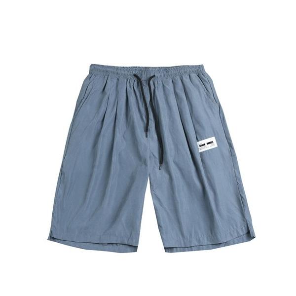海灘褲 夏季男士五分休閒短褲加肥加大碼韓版潮胖子寬鬆沙灘褲子運動薄款 夢藝