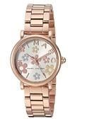 MARC JACOBS MJ3582 女士款 手錶 精品錶 石英錶 玫瑰金鋼 花朵錶盤