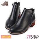 短靴-TTSNAP 細緻微尖纖細後拉鍊中...