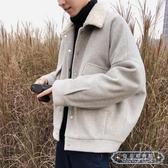 休閒外套男 ins冬季男夾克正韓加厚潮流大衣短款外套男