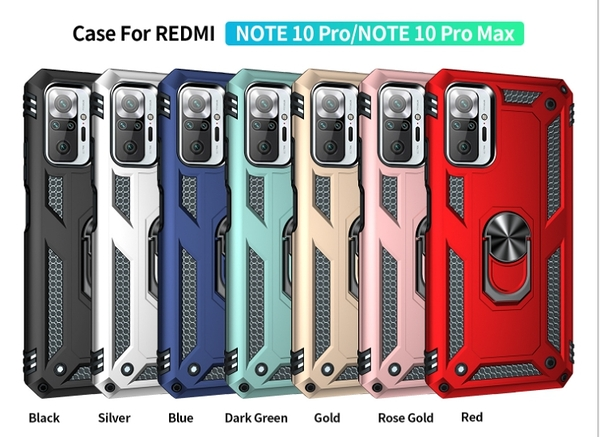 紅米Note10Pro Max軍士防摔手機殼小米11 11Lite指環支架防摔套紅米Note10 4G 5G