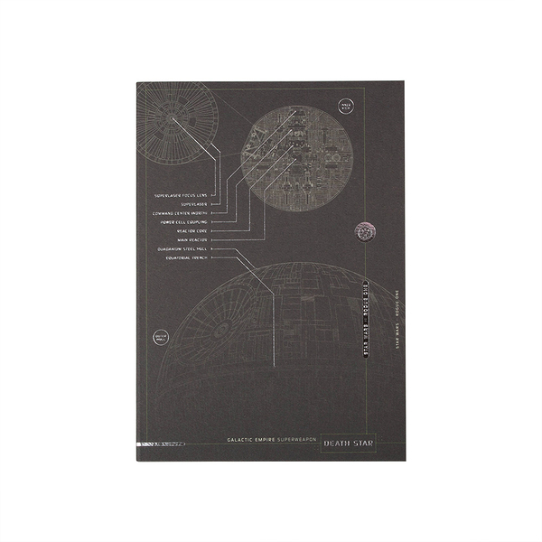 《sun-star》星際大戰外傳:俠盜一號系列燙銀鑲飾B6筆記本(死星)_UA51002