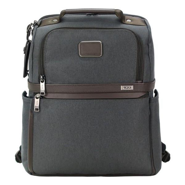 【南紡購物中心】TUMI ALPHA 3 時尚商務後背包(適用15吋筆電)-炭灰