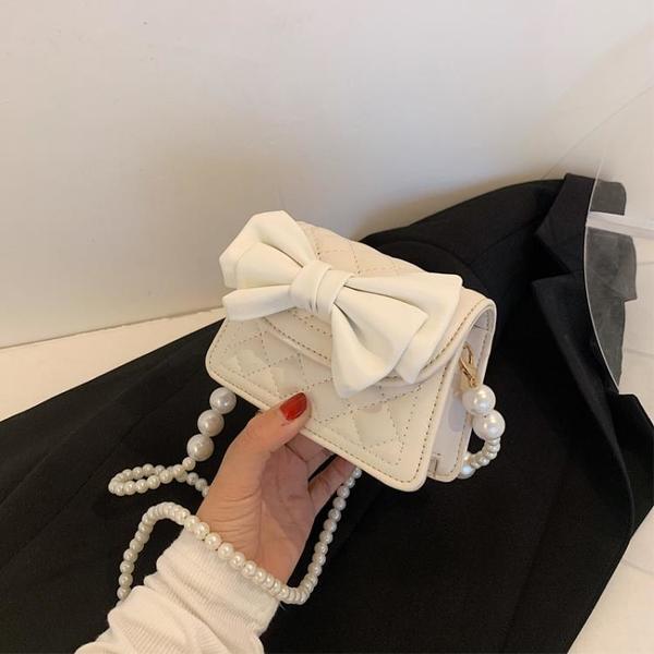 珍珠鏈條包 小眾ins高級感今年流行包包女夏2021新款潮珍珠設計小手提斜挎包 ww