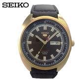 SEIKO 精工授權網路專賣店 精工5號復古懷舊古銅金限量機械手錶(SRPB74J1)-4R36-06E0K咖啡砂金面44mm