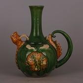 遼 三彩綠釉龍紋執壺 仿古出土舊貨瓷器古玩古董瓷器裝飾收藏擺件