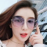 新款時尚潮流眼鏡太陽鏡女圓臉韓版防紫外線gm墨鏡網紅明星同款 凱斯盾