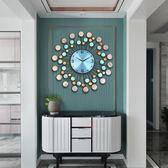 時鐘北歐現代簡約大鐘表掛鐘時鐘客廳創意時尚個性家用藝術掛表石英鐘 DF  維多