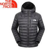 【 The North Face 美國 男款 800FP兜帽羽絨外套《黑》】A3CFR/連帽外套/保暖外套★滿額送