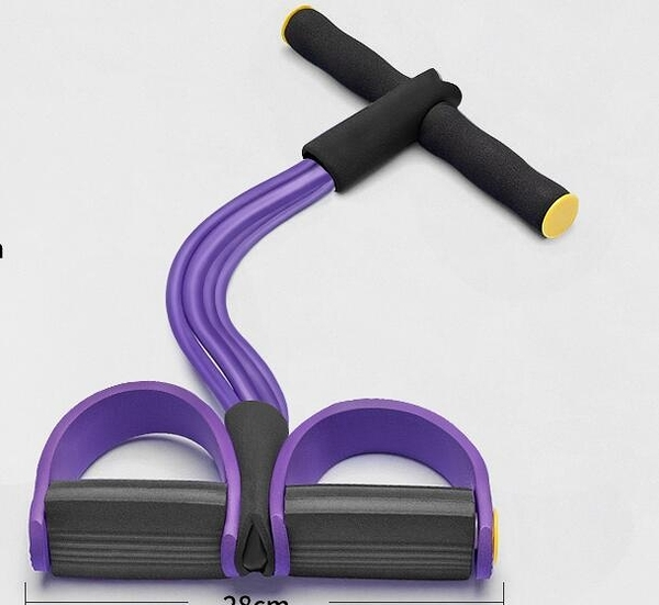 拉力器 多功能腳蹬拉力神器繩腳踏家用健身棒瑜伽運動器材女士【快速出貨】