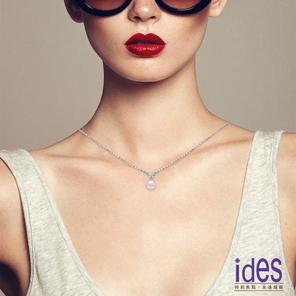 ides愛蒂思 日本設計AKOYA經典系列珍珠項鍊7-8mm/蝴蝶