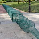 蝦籠魚網折疊漁網大網籠捕魚籠螃蟹泥鰍黃鱔籠 cf
