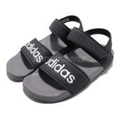 adidas 涼鞋 Adilette Sandal K 黑 白 魔鬼氈 涼拖鞋 基本款 童鞋 中童鞋【PUMP306】 G26877
