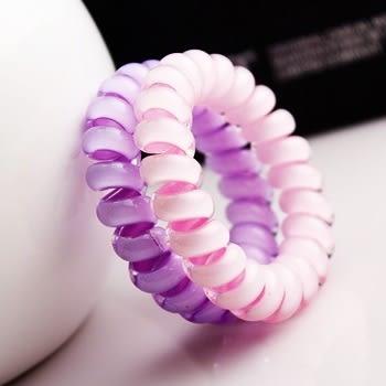 easy 糖果色電話線髮圈(大) 綁髮帶 束髮帶 髮飾 束線帶 耳機收納 集線器 捲線器 Lohogo 樂馨生活館