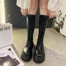 長靴 機車靴秋季長靴厚底馬丁靴女不過膝長筒騎士靴鞋高筒小腿靴子 阿薩布魯