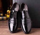 男士商務正裝黑色透氣皮鞋男休閒潮夏季韓版英倫尖頭內增高男鞋子  夏季上新