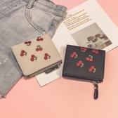 2017新款小錢包女短款刺繡迷你學生小清新折疊超薄韓版硬幣零錢包