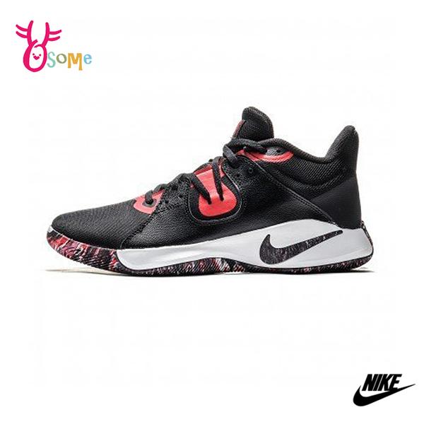 NIKE籃球鞋 FLY.BY MID男鞋 高筒籃球鞋 中筒籃球鞋 耐磨 P7228#黑紅◆OSOME奧森鞋業