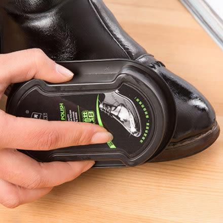 真皮保養護理鞋油 無色鞋蠟刷子 擦皮鞋皮包海綿-艾發現