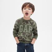 Gap男幼童 全棉迷彩織紋徽標針織上衣 515350-綠色迷彩