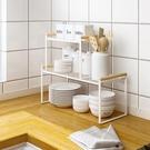 瀝水架 廚房柜子分層架置物架桌面碗碟收納櫥柜內隔層分隔板碗架放鍋架子JY【快速出貨】