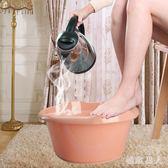 塑料按摩洗腳盆泡腳足浴盆家用泡腳桶帶滾輪足浴桶 XW1267【極致男人】