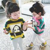 童裝女童t恤女寶寶打底衫春裝夏裝短袖2018新款韓版兒童上衣潮款【全館八八折促銷】