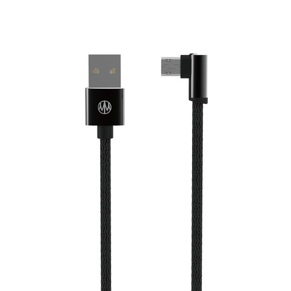 Meet Mind USB正反插2代編織手遊線 2.2M 黑色 - 雙面Micro USB