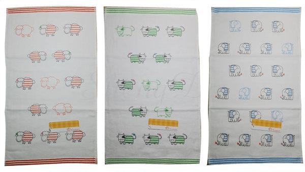 雙星Gemini日系紗布系列-SD489K 動物家族彩緞印花紗布童巾 舒適柔軟