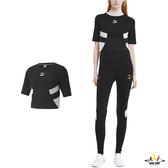 Puma 黑色 女裝 短袖 運動上衣 短T 排汗 透氣 棉質 運動 上衣 短版上衣 59775001