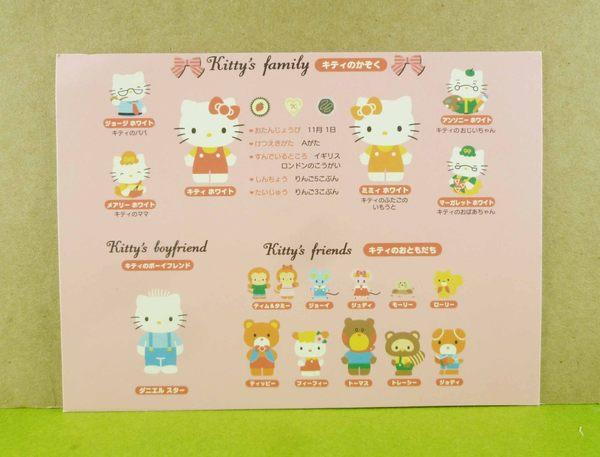 【震撼精品百貨】Hello Kitty 凱蒂貓~卡片-家族粉