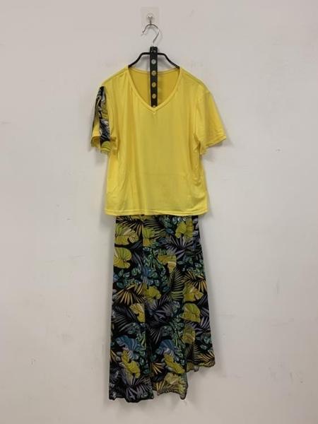 基本款氣質上衣長裙兩件式套裝(F碼/121-7690)