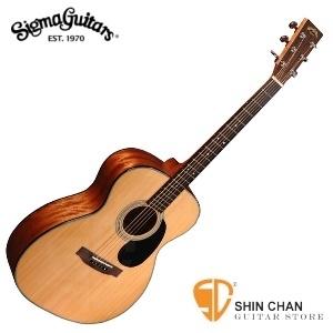 Sigma 000M-1ST 民謠吉他 (000M1ST/雲杉面單板/經典OM桶身) 贈吉他袋【源自Martin製琴工藝】