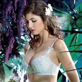 LADY 魔法鉤花系列 刺繡深線內衣 B-F罩(草原綠)