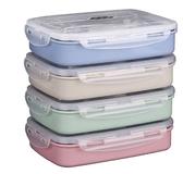 不鏽鋼保溫飯盒便當快餐盒餐盤分格學生帶蓋塑料