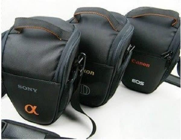 攝彩@Canon 佳能 Nikon 尼康 Sony 索尼 單眼相機包 一機一鏡 槍包 輕便實用(20101-超值三角包)