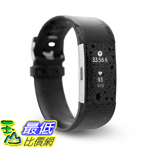 [106美國直購] 防水智能手環 運動手環 Waterfi Waterproof Fitbit Charge2 Activity Tracker with Heart Rate Monitor